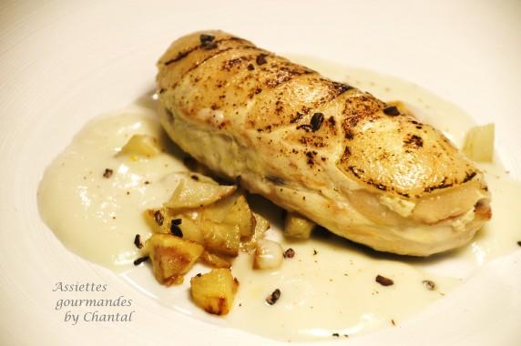 Une recette de Philippe Etchebest: filet de poulet, poire et topinambour