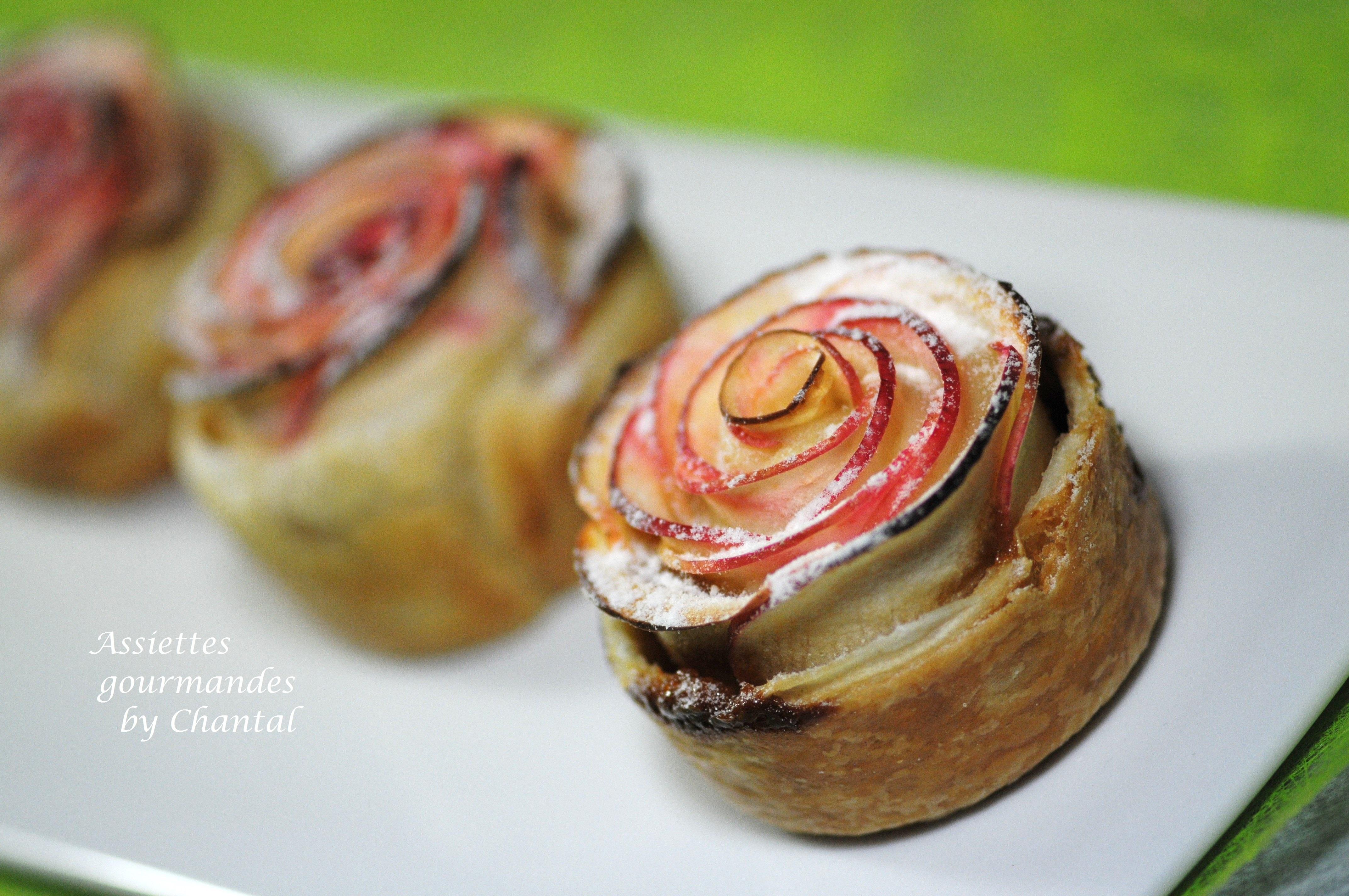 Tartelette aux pommes... comme une rose !