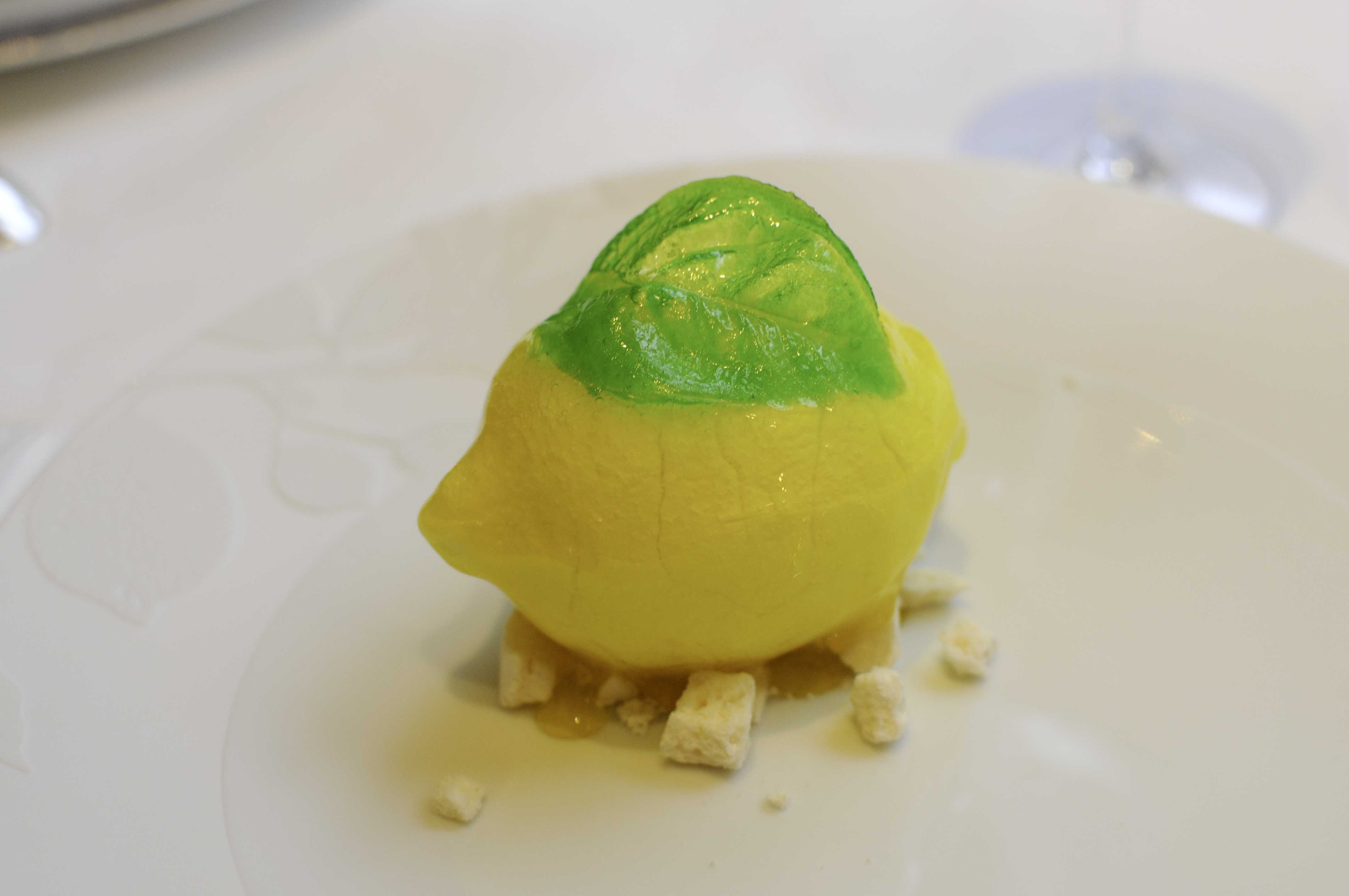 Dessert laurent Jeannin - Le Bristol Epicure - Citron de Menton
