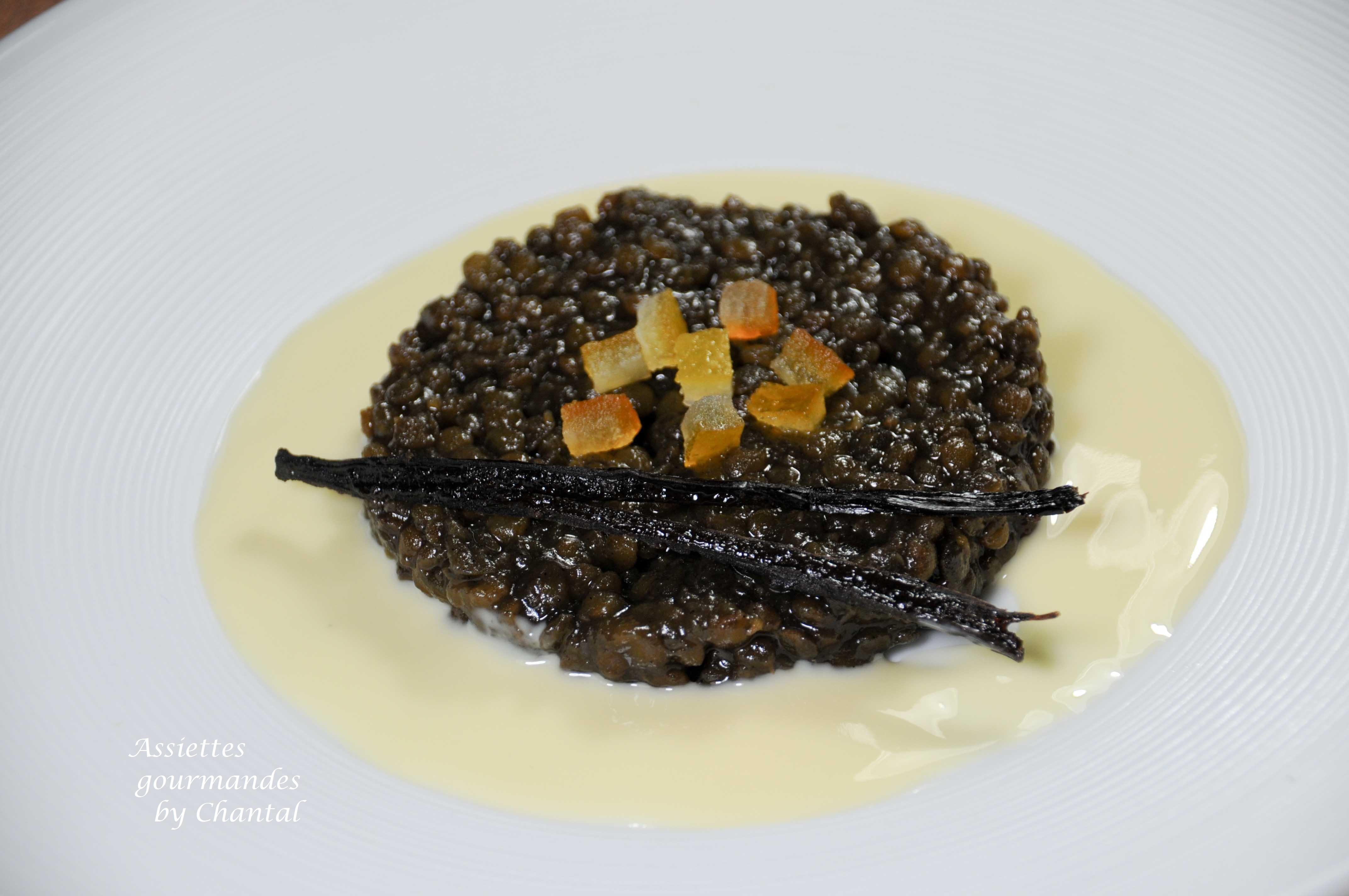 Lentilles confites en dessert