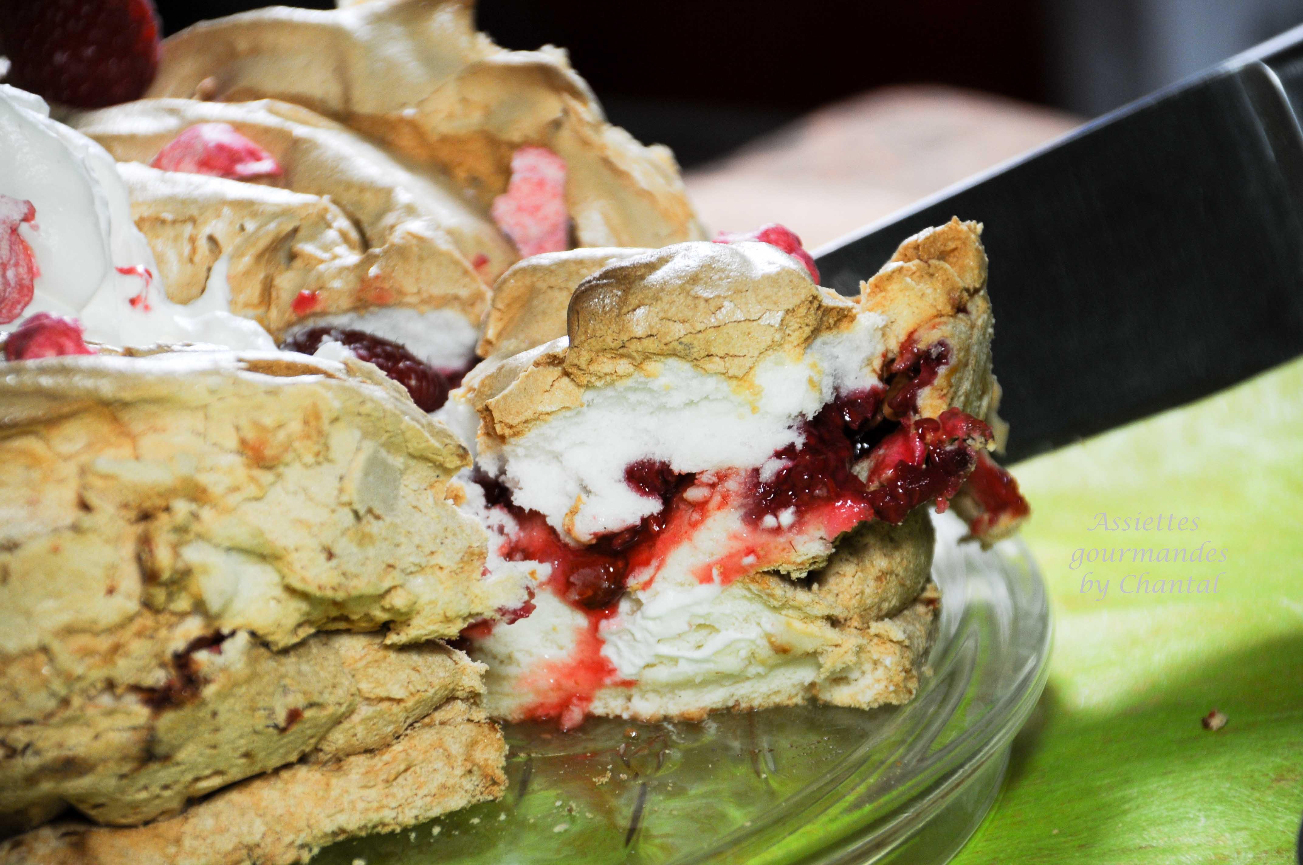 Angel Cake pralines et framboises