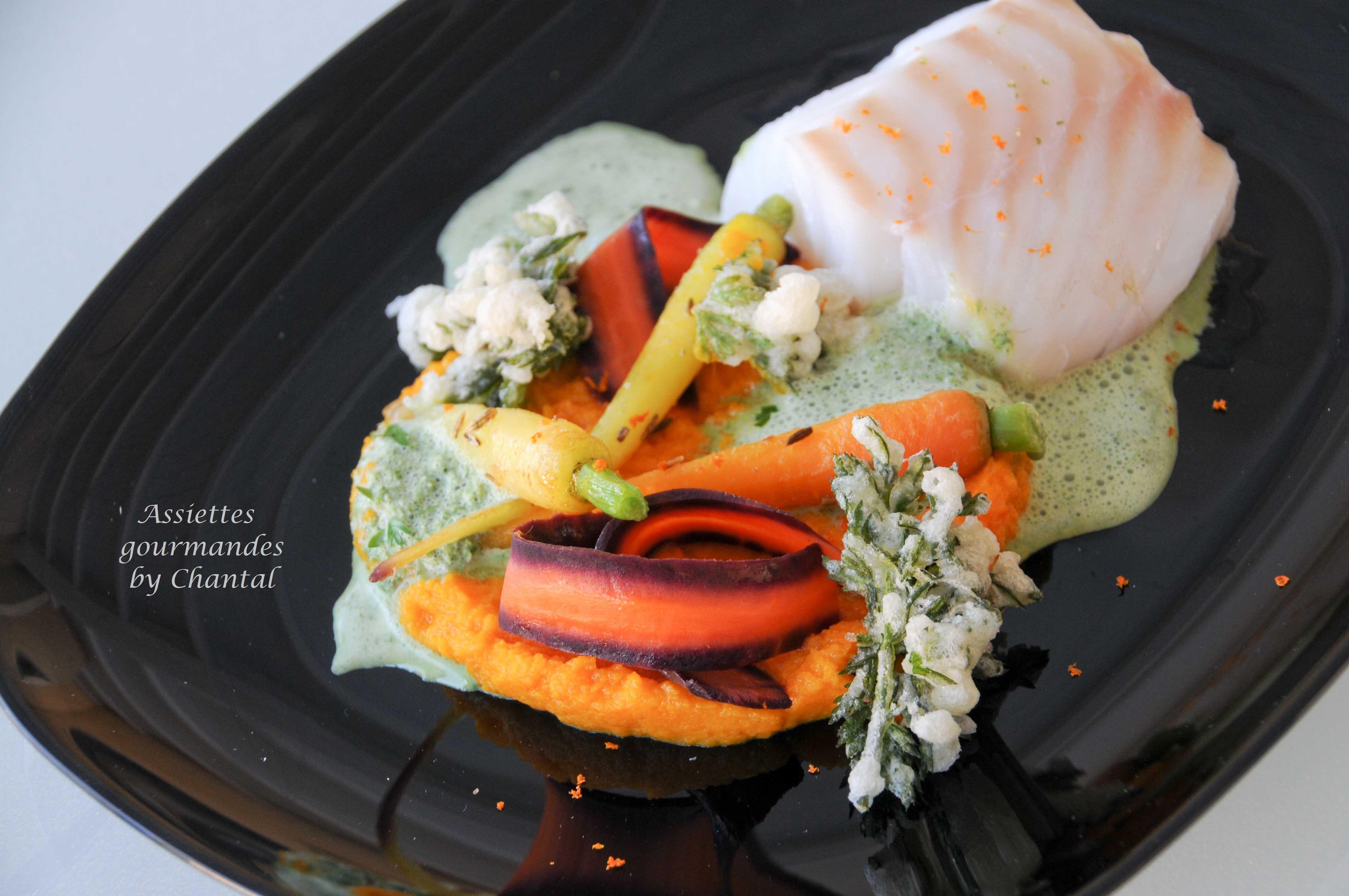Déclinaison autour de la carotte et dos de cabillaud - Recette de Philippe Etchebest
