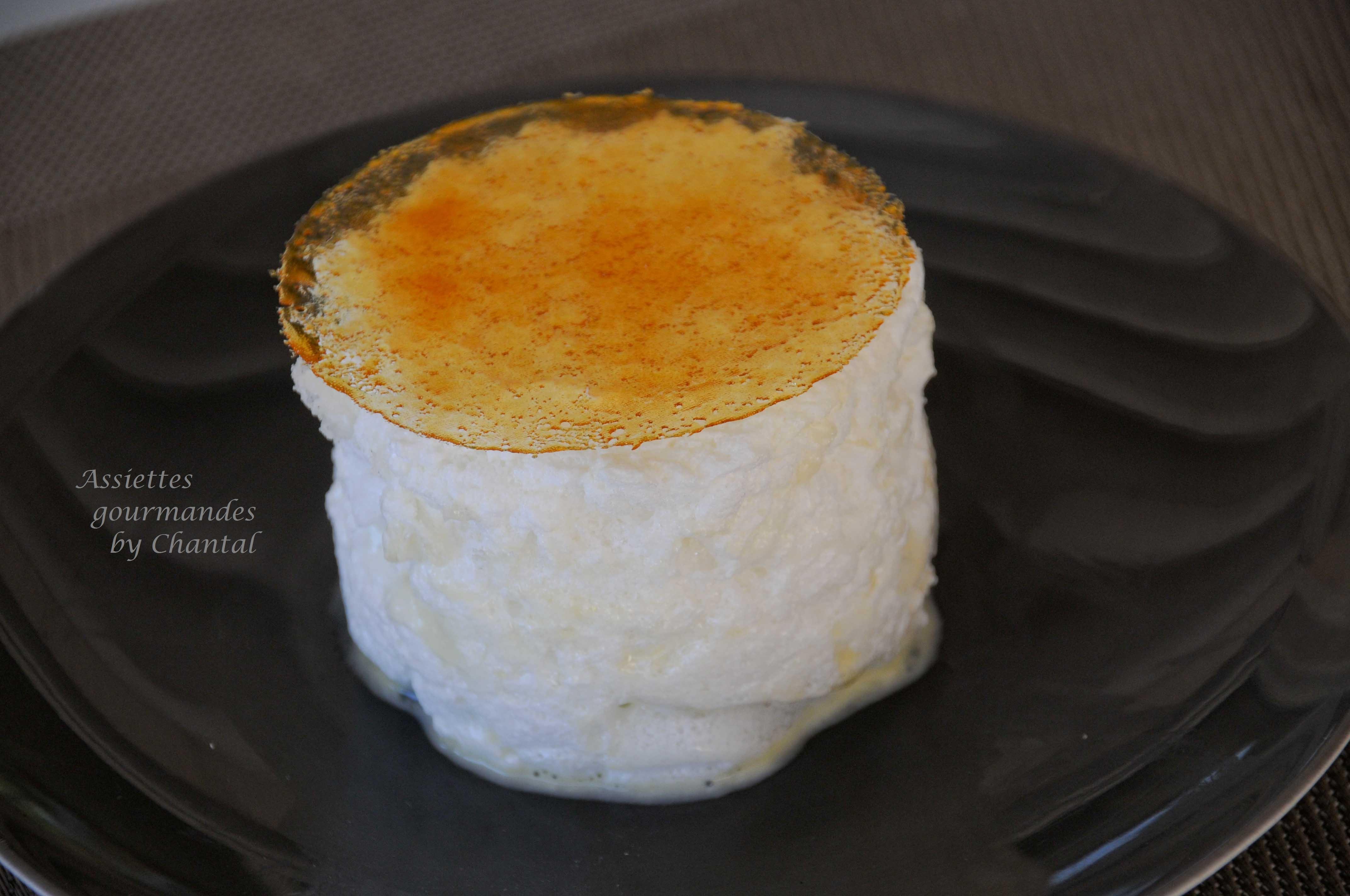 Blanc manger de Jean-François Piège - Iles flottantes