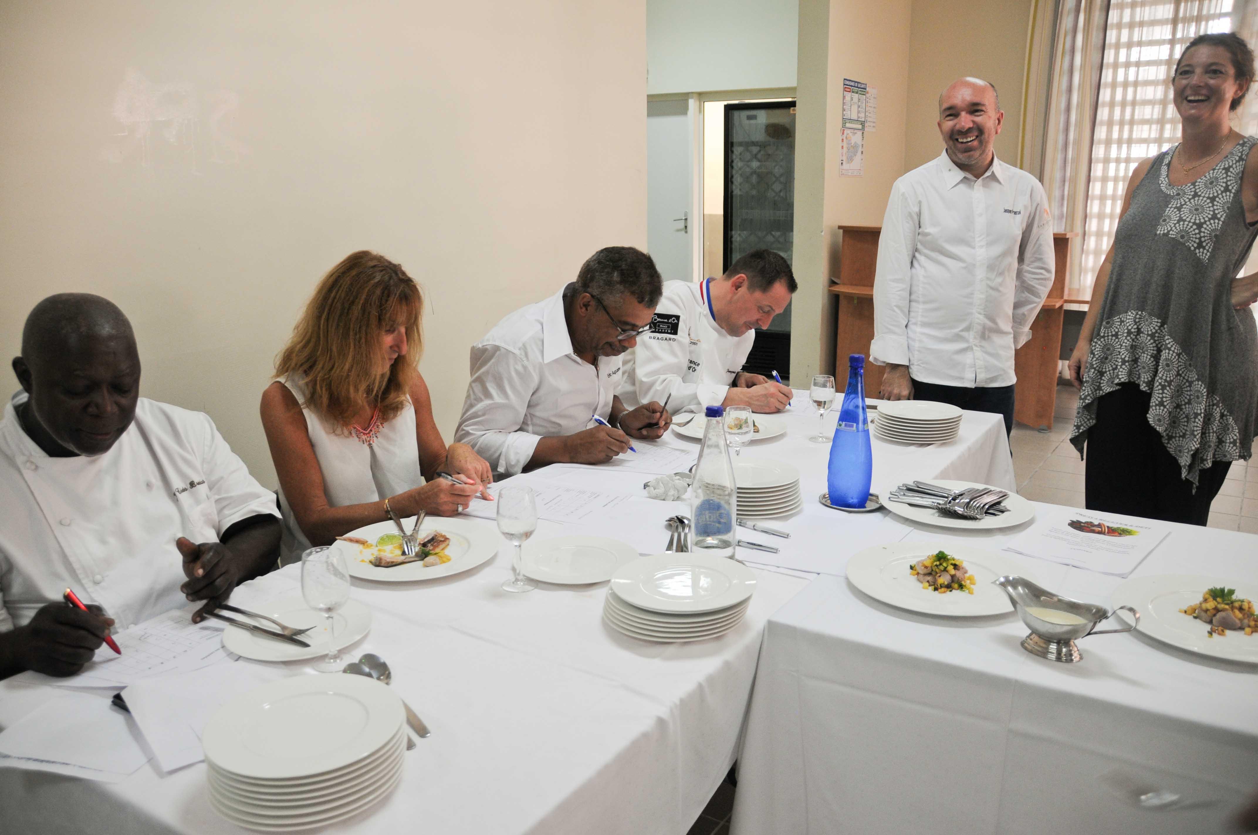 Concours de cuisine et conférences au Lycée de Bellefontaine, lors du Martinique Chefs Festival