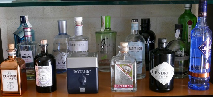 Bouteilles de Gin