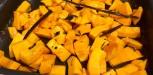 Dessert marron, mandarine, potimarron (1)