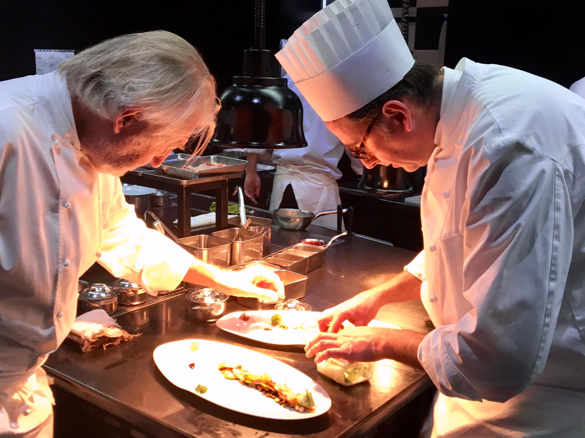 Nouveau déjeuner à La Grande Maison Bernard Magrez, par Pierre Gagnaire et Jean Denis Le Bras