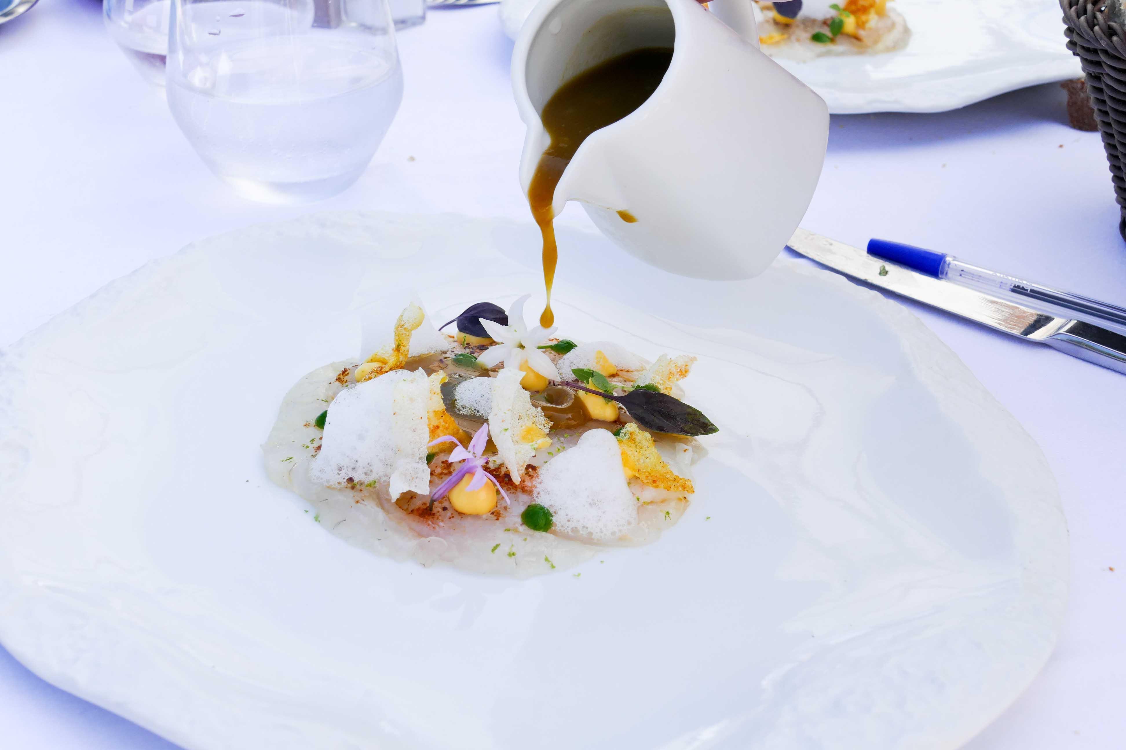 Déjeuner au restaurant Ilura, par Fabrice Idiart à Saint-Jean-de-Luz