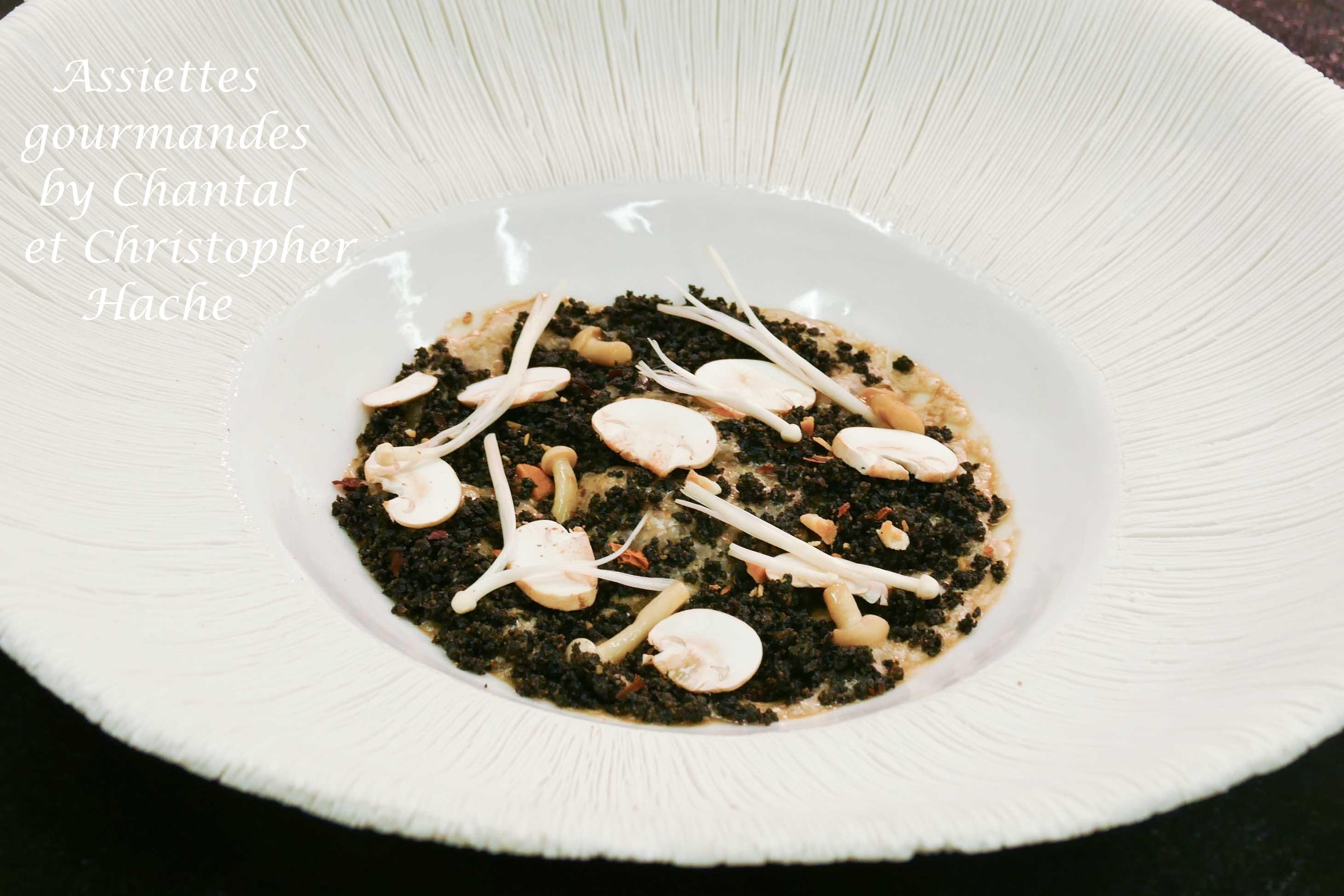 Mousse de champignons de Paris - Recette de Christopher Hache