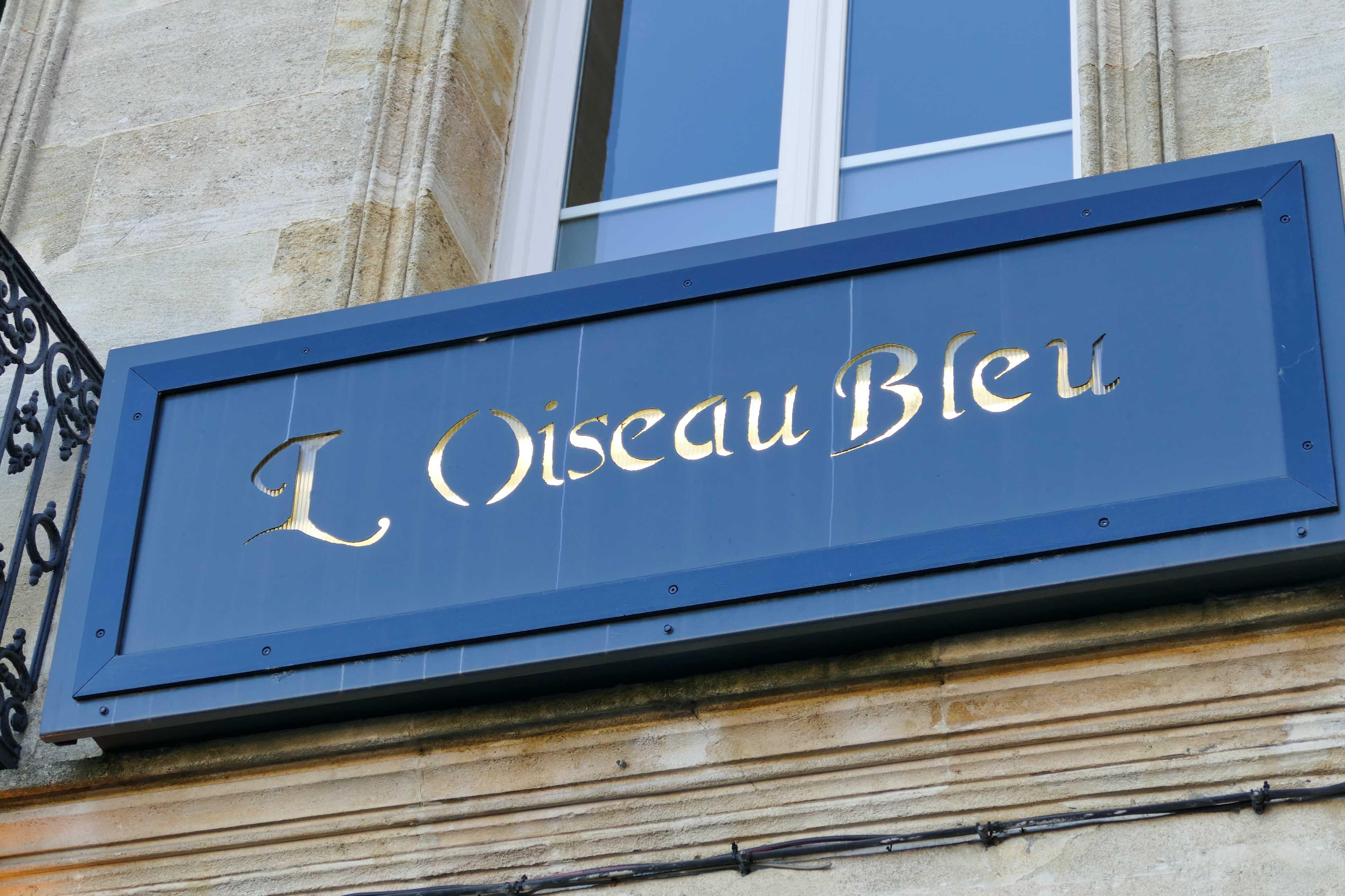 Déjeuner à l'Oiseau Bleu à Bordeaux