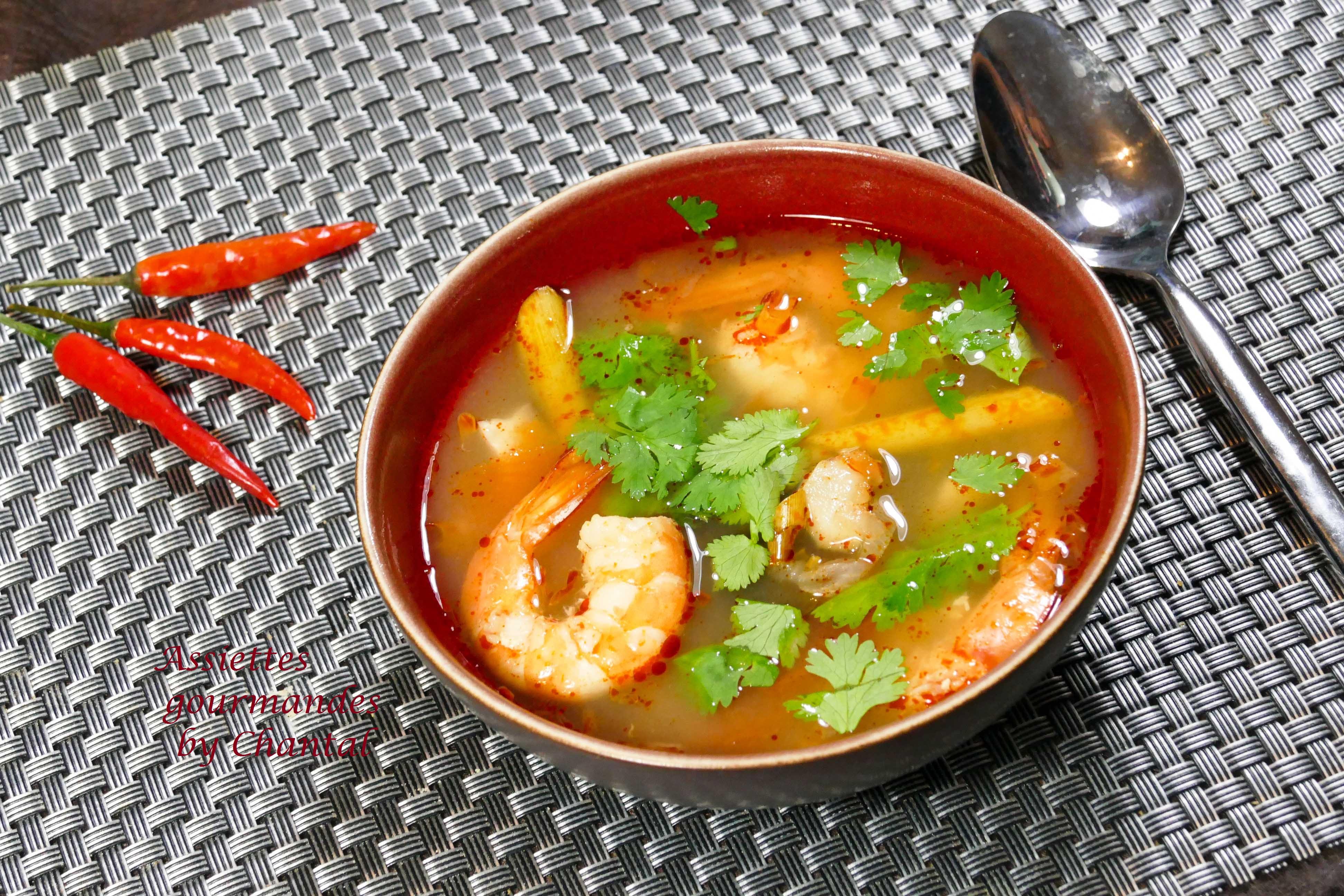 Tom Yam Kung - Soupe Thaï à la citronnelle et aux crevettes