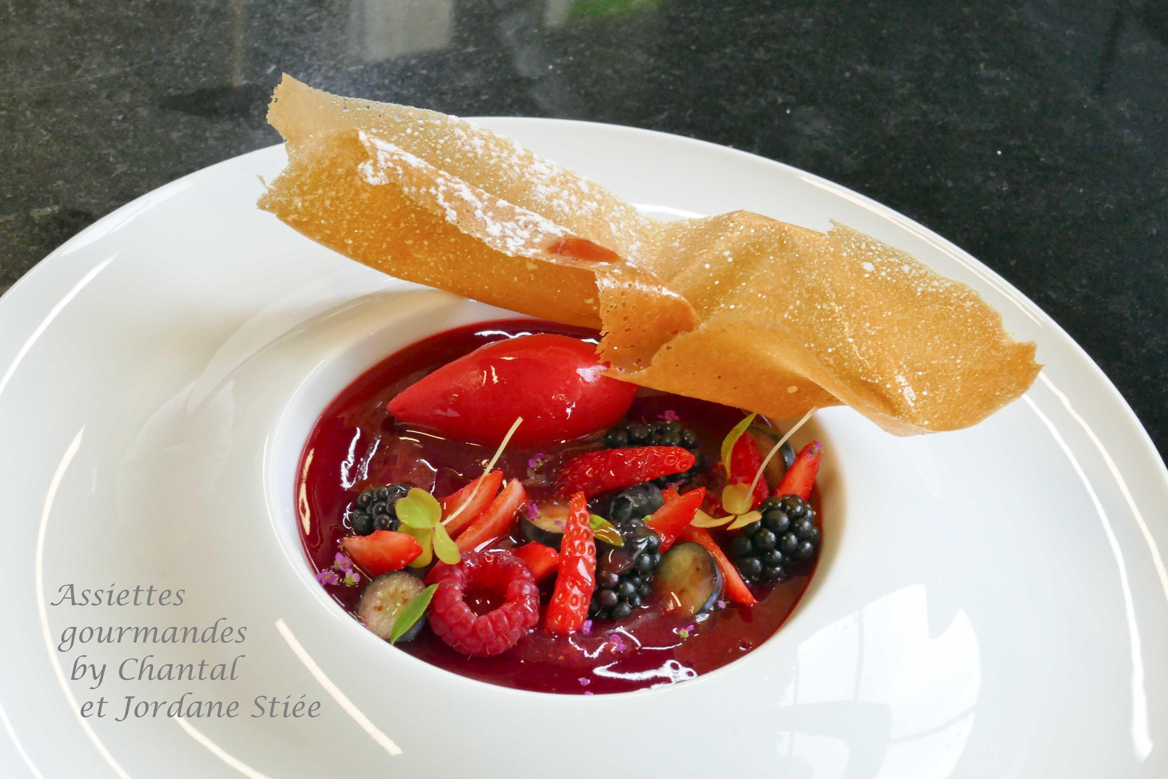 Mousse fromage blanc et jardin de fruits rouges, par Jordane Stiée