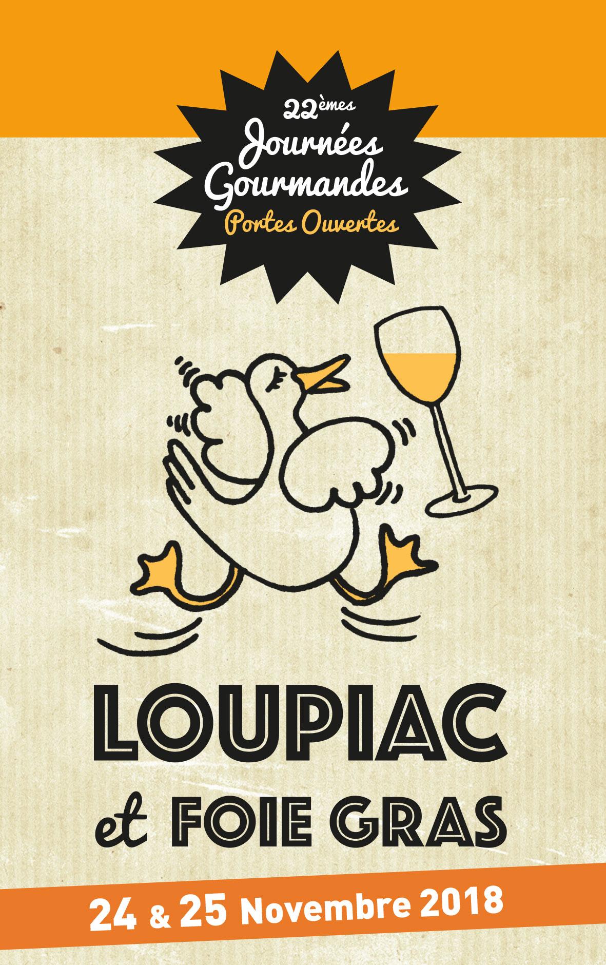 """Journées gourmandes """"Loupiac et foie gras"""" 2018"""