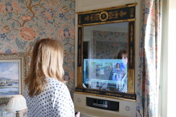 télévision miroir