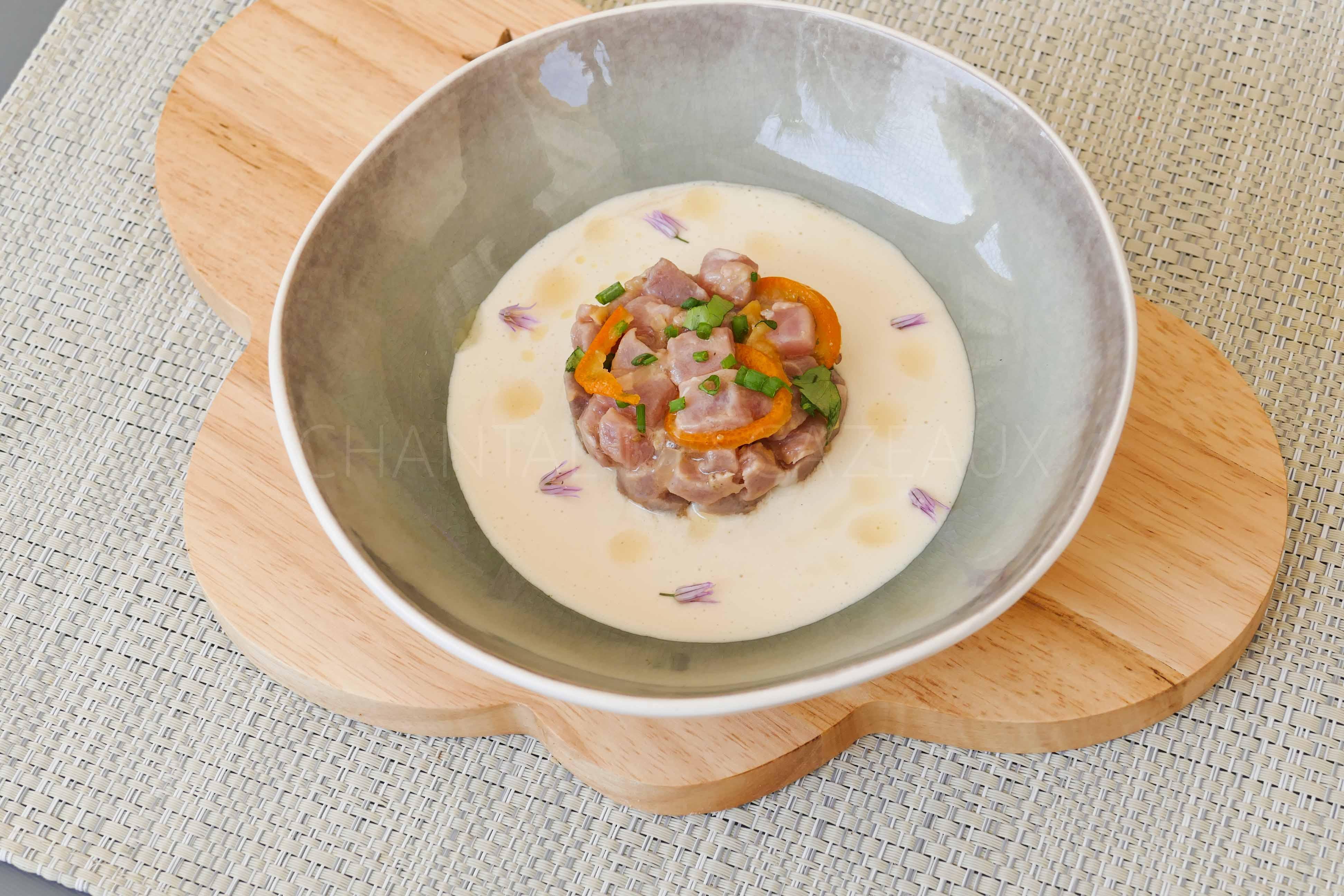 Tartare de thon et ajo blanco