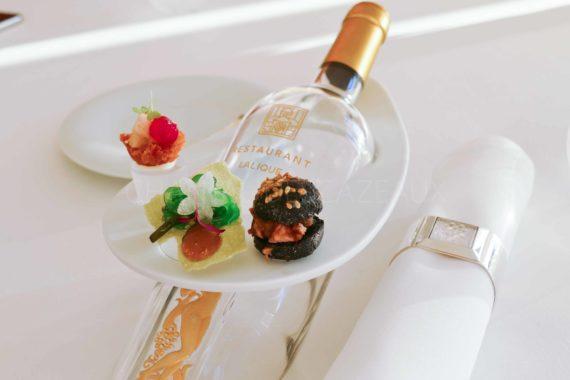 mise en bouche restaurant Lalique