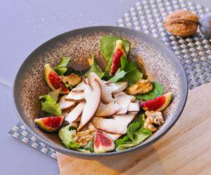 Salade d'automne - Cèpes, noix, figues