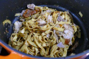 Recette tagliatelles lapin, sauce anchois