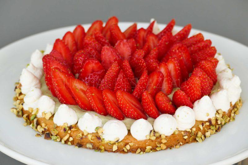 Tarte aux fraises et pistaches (47)