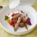 Salade de tomates, sardines marinées et sauce Burrata – Nicolas Thomas
