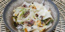 Salade fenouil, sauce anchois