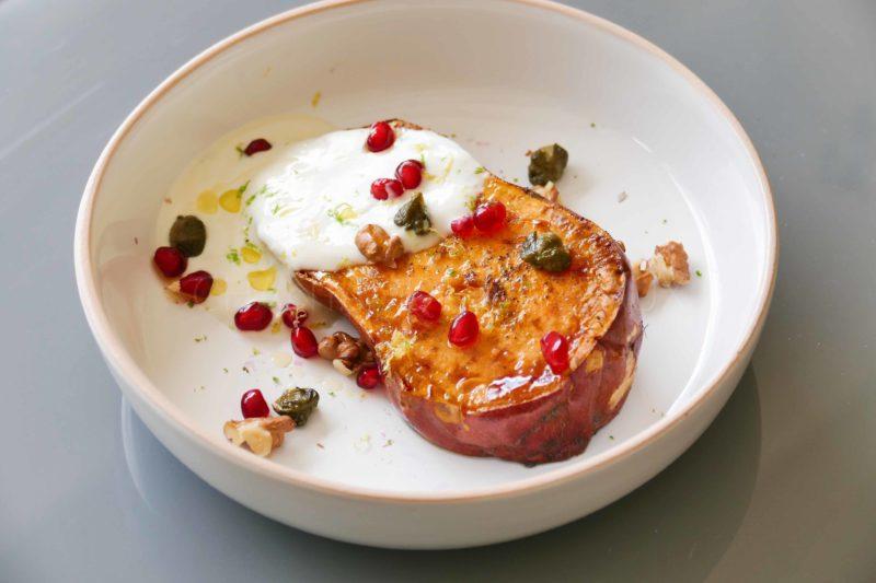 Patate douce, yaourt grec, thon