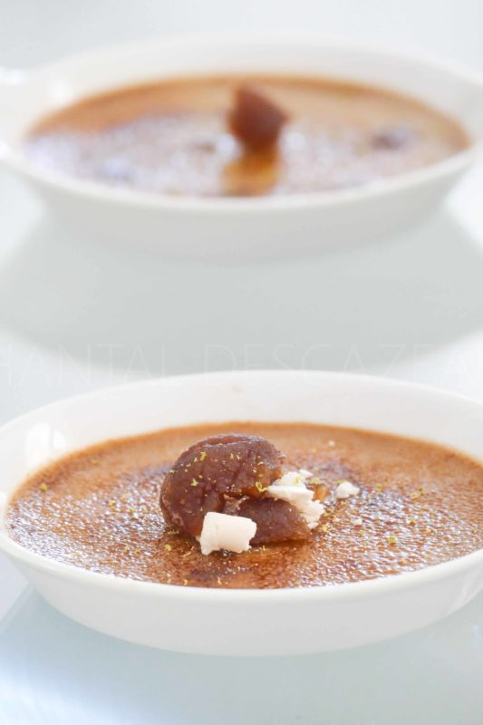 Crème brûlée à la crème de marron