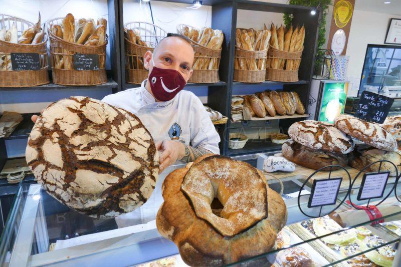 Tourte de seigle et couronne bordelaise - Boulangerie Le Bellis