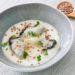 Huîtres pochées, topinambours, Colonnata et sarrasin