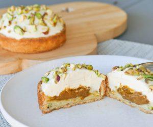 Tartelette pistache fleur d'oranger - Le jardin Sucré