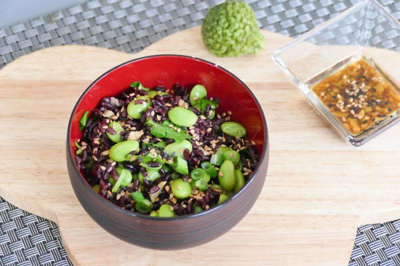 Salade Riz noir vénéré et Edamame