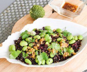 salade Edamame et riz noir