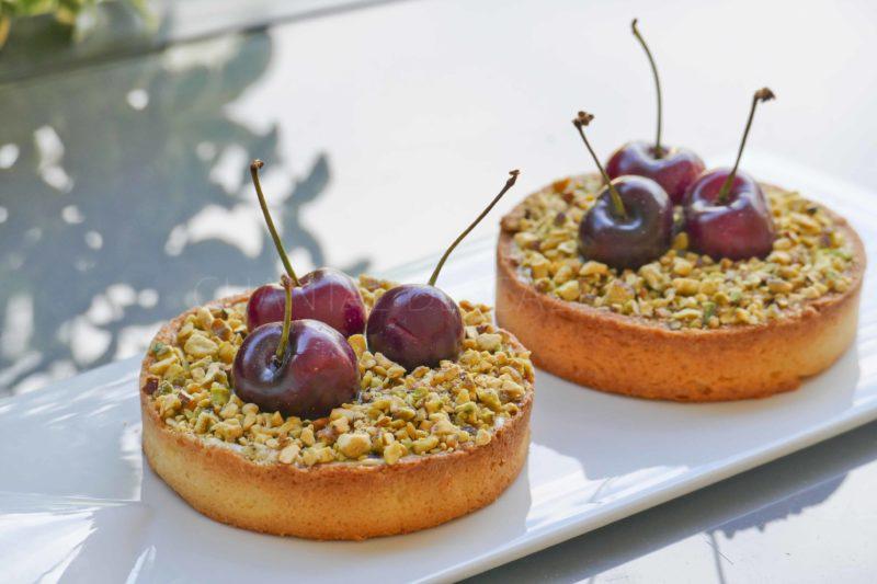 Tartelette pistaches cerises